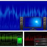 Audio & TV equipment — Stock Vector