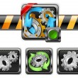 Stock Vector: Gears icons