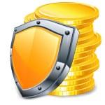 Gold coins & coat — Stock Vector