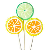 Three lollipops — Stock Photo