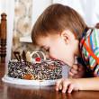 Boy with the cake — Stock Photo #8893697