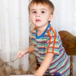 Boy is painting — Stock Photo