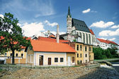 Church in Cesky Krumlov. Saint Vitt — Stock Photo