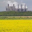 Power station in field — Stock Photo