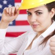 Thumb up for american economy - Stock Photo