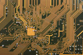 Electronic circuit plate background — Stock Photo