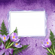 Multicoloured backdrop for greetings or invitations with bunch o — Stock Photo #8012009