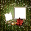 Romantic vignette on the abstract background in scrapbooking sty - Stock Photo