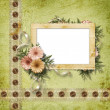 Card for greeting or invitation on the vintage background. — Stock Photo