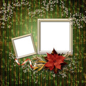 Romantic vignette on the abstract background in scrapbooking sty — Zdjęcie stockowe