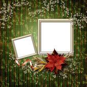 Vignetta romantica sullo sfondo astratto nel porcile di scrapbooking — Foto Stock