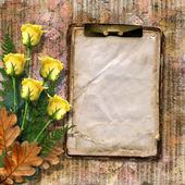 Grunge copybook for information in scrapbooking style — Stock Photo