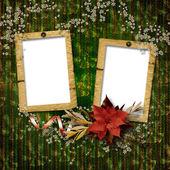 写真のためのフレームワーク。ビンテージ クリスマス組成. — ストック写真