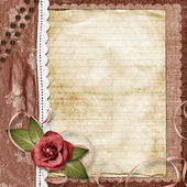 Ñard for greeting or invitation on the vintage background. — Stock Photo