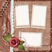 Frameworks for photo on the vintage background. — Stock Photo