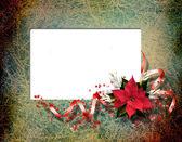Rahmenbedingungen für foto. die vintage weihnachten-zusammensetzung. — Stockfoto