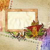 рамки для приглашения или поздравление с vintage chr — Стоковое фото