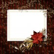 Frameworks for photo. The vintage christmas composition. — Stock Photo