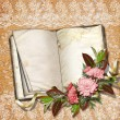 Royalty-Free Stock Photo: Page for photo or invitation on the vintage background.