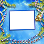 Card for congratulation on abstract winter background. — Stock Photo