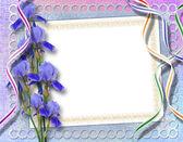 Elegante marco por invitación en el fondo abstracto. — Foto de Stock