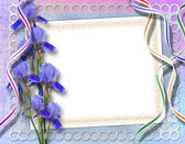 Quadro elegante para convite no fundo abstrato. — Foto Stock