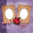 Stock Photo: Romantics vignettes with christmas composition in scrapbooking s