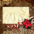 Card for congratulation with the christmas composition. — Stock Photo
