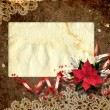 Card for congratulation with the christmas composition. — Стоковая фотография