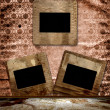 Vintage background with frames for photo. — 图库照片