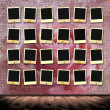 Vintage background with frames for photo. — Stock Photo