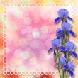 Royalty-Free Stock Photo: Multicoloured backdrop for greetings or invitations with bunch o