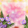 Multicoloured backdrop for greetings or invitations with bunch o - Stock Photo