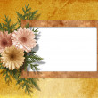 Stock Photo: Old paper chrysanthemum on the abstract background.