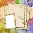 Multicoloured backdrop for greetings or invitations. - Foto de Stock