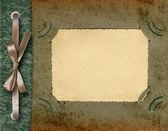Framework for photo. Page of old album. — ストック写真