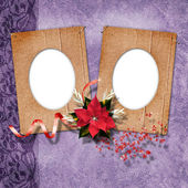 Romantics vignettes with christmas composition in scrapbooking s — Stock Photo