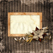 Framework for photo with the vintage christmas composition. — Stock Photo