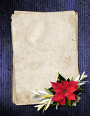 Framework for invitations or congratulation with christmas compo — Stock Photo