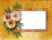 Oud papier chrysant op de abstracte achtergrond. — Stockfoto