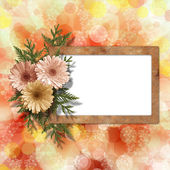 Multicoloured backdrop for greetings or invitations with bunch o — Stock Photo