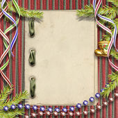 Marco para invitaciones o felicitación con la vendimia chr — Foto de Stock