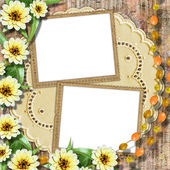 Card for greeting or invitation on the abstract background. — Stock Photo