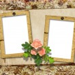Romantic vignette on the abstract background in scrapbooking sty — Stock Photo #8222552