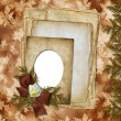 Stock Photo: Romantic vignette on abstract background in scrapbooking sty