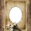 Romantic vignette on the abstract background in scrapbooking sty — Stock Photo #8223155