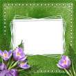 Stock Photo: Vintage background for invitation and photo. Velvet.