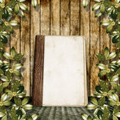 The vintage background with a old album. — Stock Photo