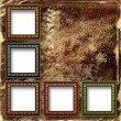 Grunge abstract background with frames for a photo. — Foto de Stock