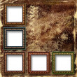 Grunge abstract background with frames for a photo. — Stockfoto